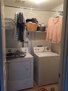 Beautiful Ideas For Tiny Laundry Spaces14
