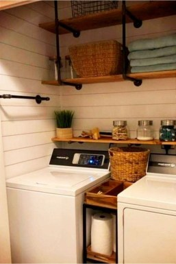 Beautiful Ideas For Tiny Laundry Spaces29