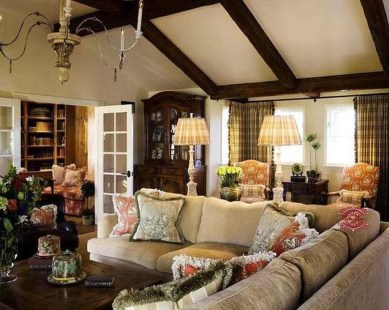 Extraordinary French Country Living Room Decor Ideas34