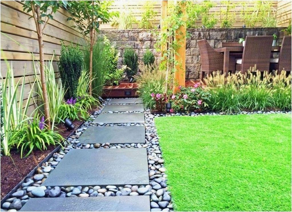 46 Gorgeous Small Backyard Landscaping Ideas - HOMISHOME on Small Backyard Ideas id=74698