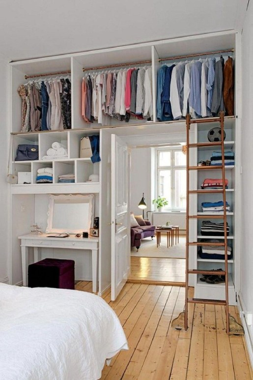 The Best Small Wardrobe Ideas For Your Apartment32