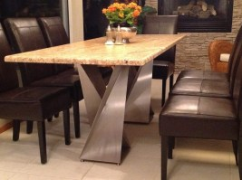 Awesome Granite Table For Dinning Room17
