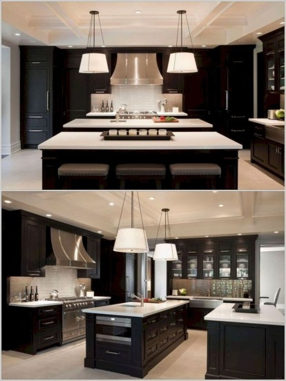 Best Double Kitchen Design Ideas For Cooking Easier18