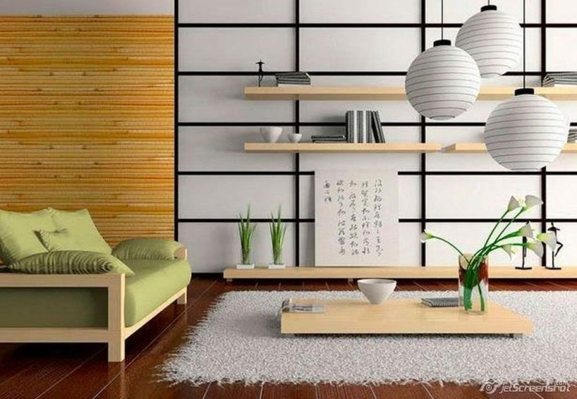 Modern Japanese Living Room Decor01