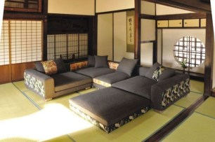 Modern Japanese Living Room Decor16