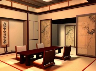 Modern Japanese Living Room Decor19