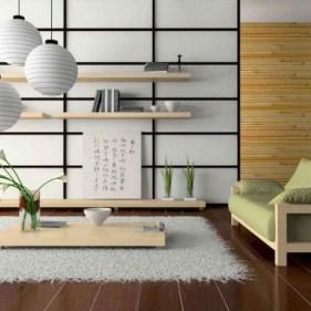 Modern Japanese Living Room Decor23