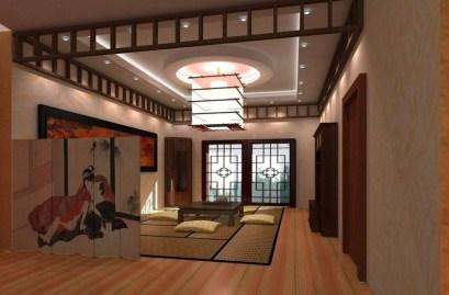 Modern Japanese Living Room Decor42