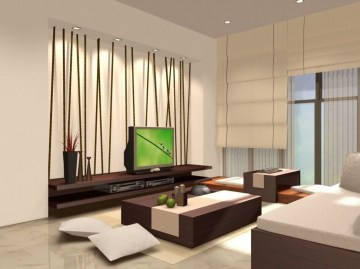 Modern Japanese Living Room Decor43
