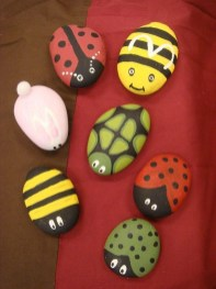 Simple Painted Rock Ideas For Garden06