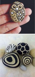 Simple Painted Rock Ideas For Garden07