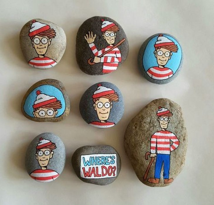 Simple Painted Rock Ideas For Garden49