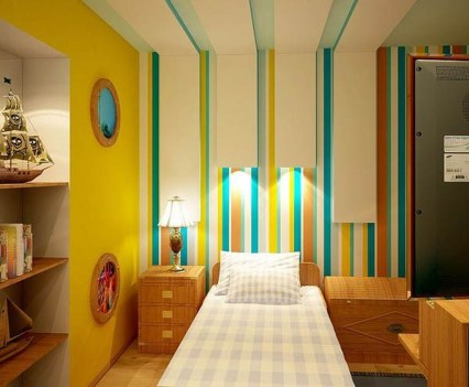 Awesome Striped Painted Wall Design And Decorating Ideas18