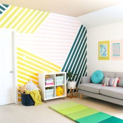 Awesome Striped Painted Wall Design And Decorating Ideas29