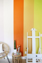 Awesome Striped Painted Wall Design And Decorating Ideas30
