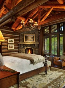 Gorgeous Log Cabin Style Home Interior Design11
