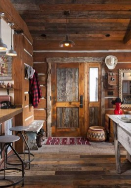Gorgeous Log Cabin Style Home Interior Design24