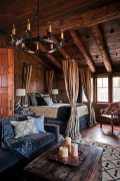Gorgeous Log Cabin Style Home Interior Design37