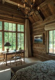 Gorgeous Log Cabin Style Home Interior Design38