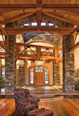 Gorgeous Log Cabin Style Home Interior Design44