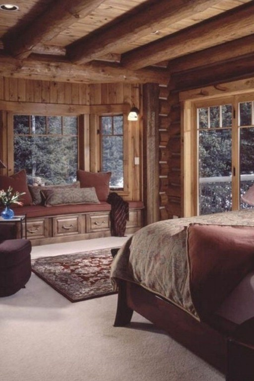 Gorgeous Log Cabin Style Home Interior Design48