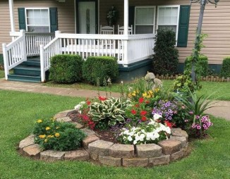 Incredible Flower Bed Design Ideas For Your Small Front Landscaping16