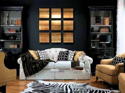 Wonderful Black White And Gold Living Room Design Ideas27