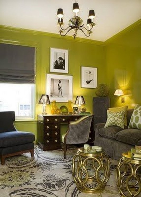 Wonderful Black White And Gold Living Room Design Ideas29