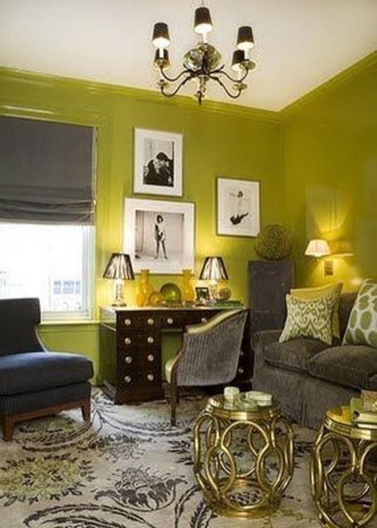 Wonderful Black White And Gold Living Room Design Ideas29
