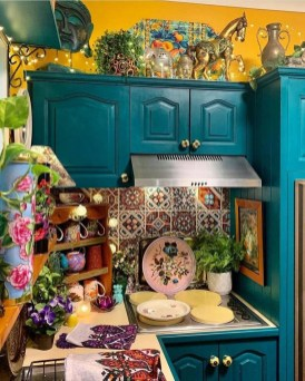 Awesome Bohemian Kitchen Design Ideas For Comfortable Cooking15
