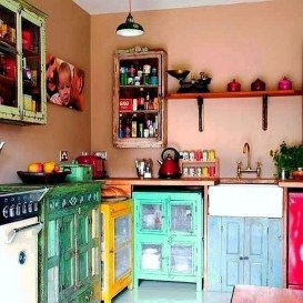 Awesome Bohemian Kitchen Design Ideas For Comfortable Cooking21