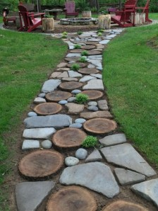 Creative Diy Garden Walkways Ideas For Stunning Home Yard13