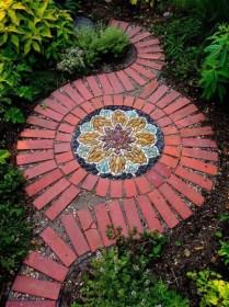 Creative Diy Garden Walkways Ideas For Stunning Home Yard19