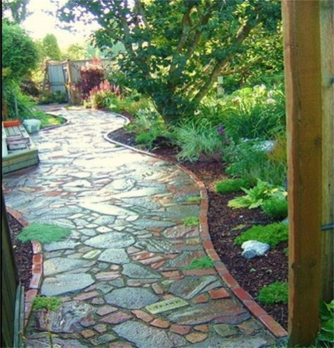 Creative Diy Garden Walkways Ideas For Stunning Home Yard26