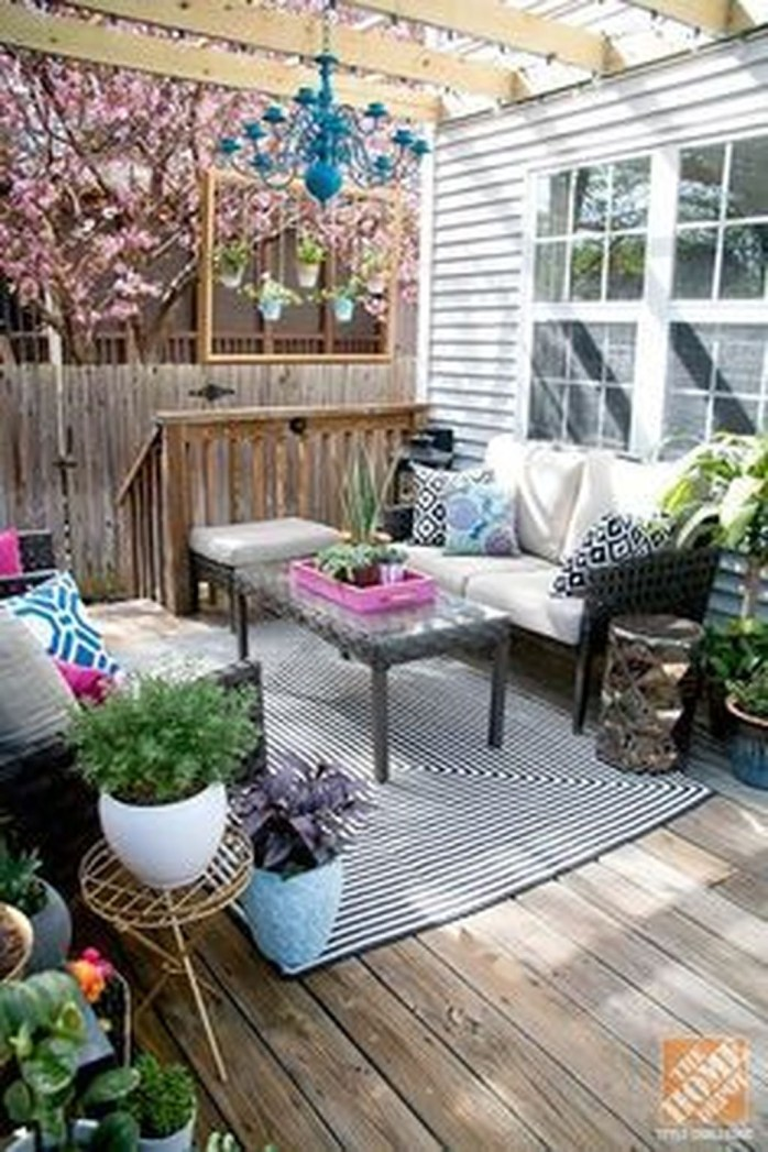 Creative Ideas To Decorate Your Outdoor Room23