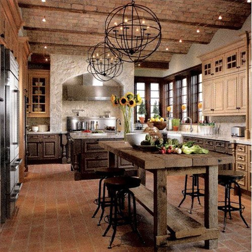 Extraordinary County Rustic Kitchen Ideas For Inspiration14