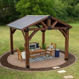 Impressive Gazebo Design Inspiration For Minimalist Garden05