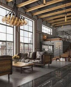 The Best Decorations Industrial Style Living Room That Will Amaze Your Guests41
