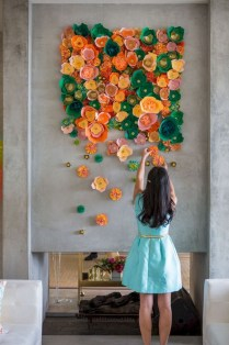 Amazing Diy Flower Wall Decoration For You Try14
