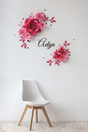 Amazing Diy Flower Wall Decoration For You Try18