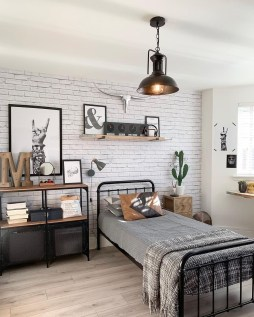 Awesome Industrial Style Bedroom Design Ideas02