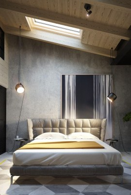 Awesome Industrial Style Bedroom Design Ideas24