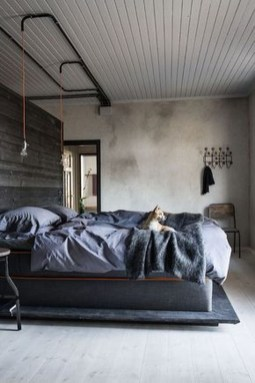 Awesome Industrial Style Bedroom Design Ideas35