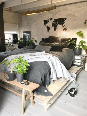 Awesome Industrial Style Bedroom Design Ideas42