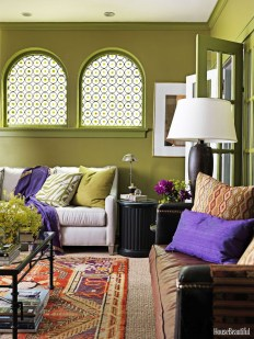 Awesome Living Room Green And Purple Interior Color Ideas01