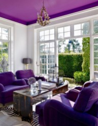 Awesome Living Room Green And Purple Interior Color Ideas10