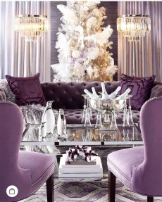 Awesome Living Room Green And Purple Interior Color Ideas21