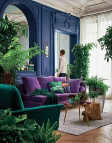 Awesome Living Room Green And Purple Interior Color Ideas22