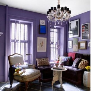 Awesome Living Room Green And Purple Interior Color Ideas30