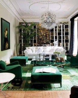 Awesome Living Room Green And Purple Interior Color Ideas33